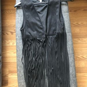 Urban Outfitters Ecote Fringe Faux Suede Vest